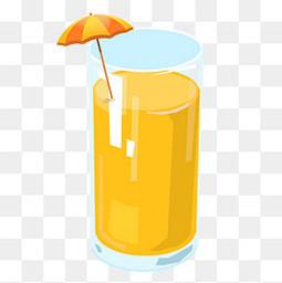 手绘夏日清凉果汁