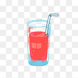 手绘夏日清凉晶莹剔透果汁