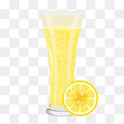 夏日手绘冰凉柠檬茶