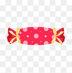 可爱卡通红色糖果零食