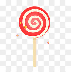 卡通矢量可爱红色棒棒糖