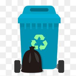 蓝色环保垃圾桶垃圾