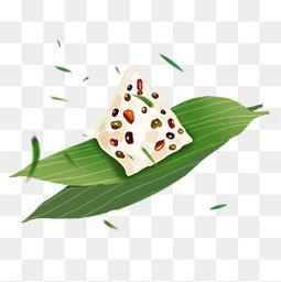 卡通粽子粽叶手绘竹叶免扣图