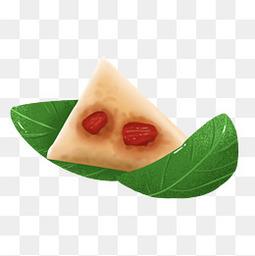 可爱卡通习俗粽子粽叶手绘