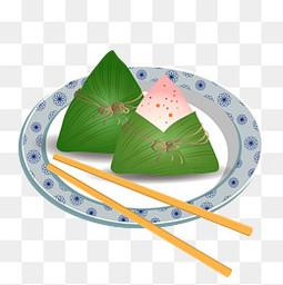 盘子里的粽子免扣图片