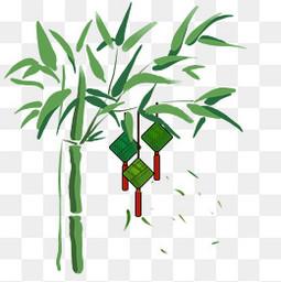 粽子香囊竹子手绘png素材