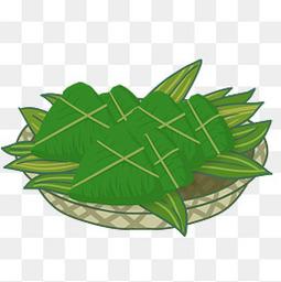 卡通粽子节日习俗透明图