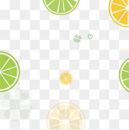 夏日小清新柠檬背景边框