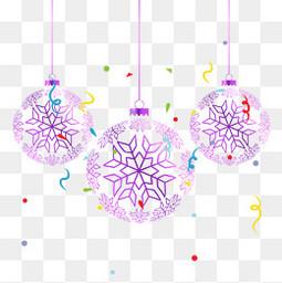 紫色圣诞球