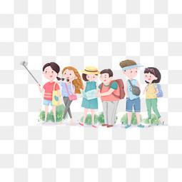 青年日春夏天游旅游季公司旅游元素