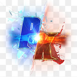 蓝色红色立体字PK