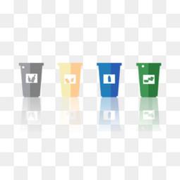 垃圾桶干湿垃圾可回收不可回收垃圾素材