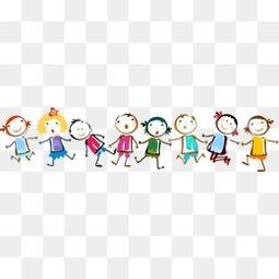 8个彩绘儿童插画设计矢量素材