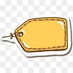 黄色标签气泡