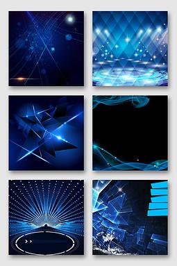 蓝色科技炫酷光效素材