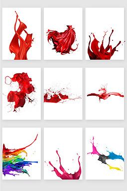 红色泼墨矢量素材
