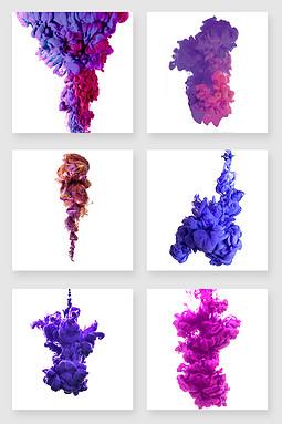 紫色烟雾设计素材