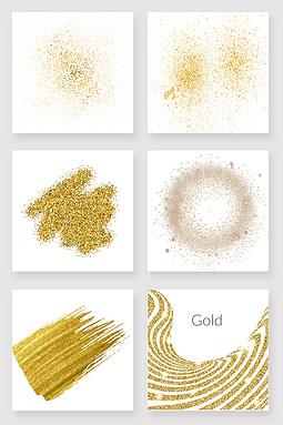 金色粉末png设计素材