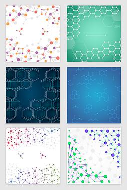 科技分子线条纹理矢量素材