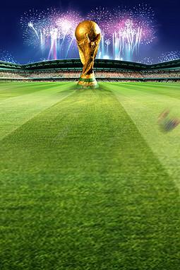 绿色足球世界杯海报背景