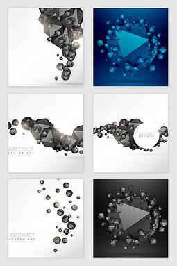 科技几何碎片的矢量素材