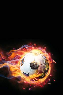 激战世界杯足球海报背景