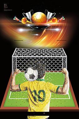 帅气金色足球世界杯广告背景