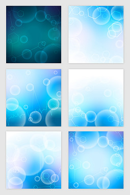 蓝色科技光圈矢量素材