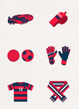 红色矢量世界杯素材