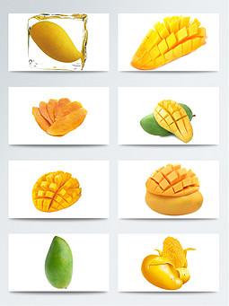 黄色经典芒果透明素材合集