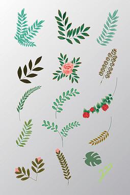花卉花树叶矢量素材