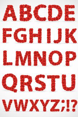 520鲜花字母矢量图形图标