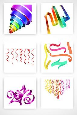各种彩带飘带矢量素材
