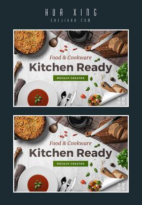 9G高品质厨房美食场景模型样机PSD源文件